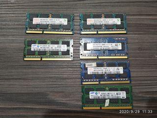 Memorie operativа DDR3.Оперативная память для ноутбуков,4GB-250lei