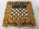 нарды шахматы картина*Львы*эксклюзив
