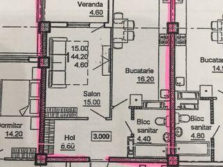 Urgent !!!! 1 odaie + living 50 m2 bloc nou dat in exploatare , direct de la proprietar !!!