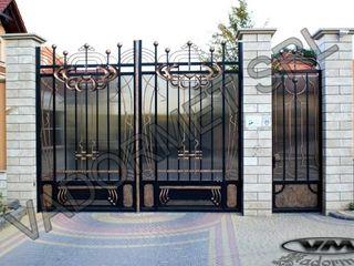 Porti din fier, fier forjat, porti moderne din tevi profilate  Vadormet SRL