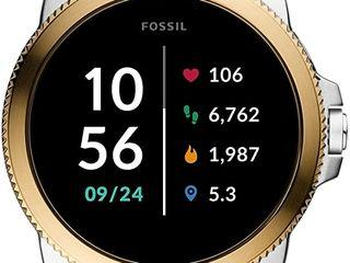 Fossil Smartwatch Gen 5+5E conectat pentru bărbați cu Wear OS de la Google!