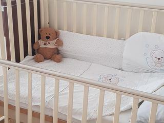 Итальянская кроватка-качалка (patuc) Pali+матрас+набор постели+бортики. 4000 лей