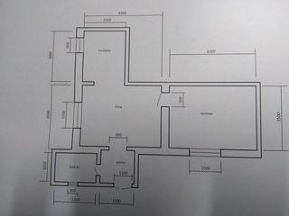 Vind  apartament cu o odaie 46m2. Posibil schimb auto+bani.
