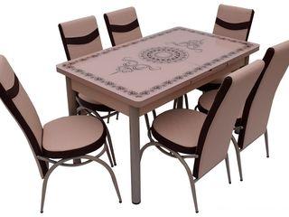 Set mg-plus kelebek cappucino (6 scaune) preț mic livrare gratuită,în credit !