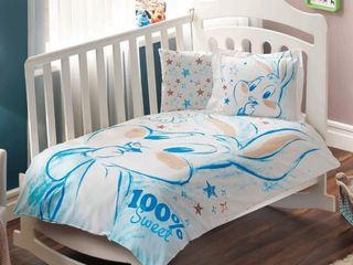 Новое постельное белье для новорожденных/set nou lengerie pat baby  tac bugs bunny baby ранфорс