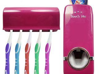 Пластмассовый дозатор для зубной пасты и держатель для зубной щетки