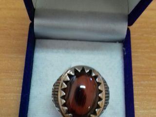 Мужские кольца из серебра 925 ручной работы с натуральным камнем