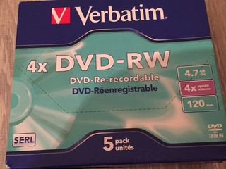 DVD RW Verbatim Re-recordable 4.7GB din SUA