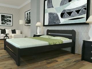 Кровать двуспальная из дерева 180х200. Массив сосны новая 3700 lei бесплатная доставка.