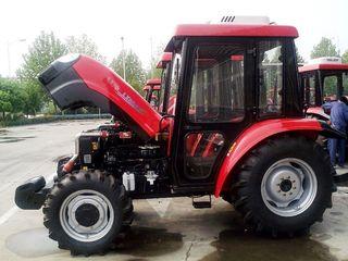 Колесный трактор YTO LX804F – полноприводный трактор для фруктовых садов и виноградников.
