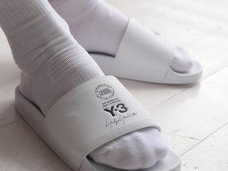 Тапочки Adidas Y-3 Adilette Slides White Unisex