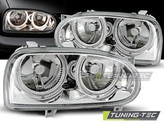 Фары ангельские глазки Golf III тюнинг оптика VW golf 3 III гольф 3 обвес фары стопы гольф 3