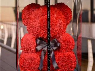 Отличный подарок любимой девушке к 14 февраля! Мишка Teddy ИЗ 3D РОЗ!