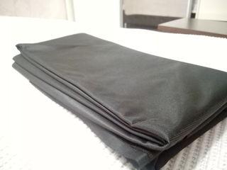 Нейлон черный 6м,шерст. ткань оранжевого цвета-2м,трикотин розовый-2м,хлопок в клетку-8м.
