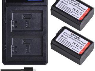 зарядное устройство Двойное с дисплеем NP-FW50 от USB