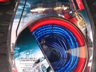Усилитель 4-х канальный 800  ватт   провода 200 лей б/у 150 лей для подключения сабвуфера, усилителя