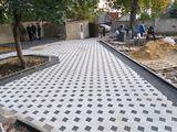 Укладка тротуарной плитки (amenajarea pavajului )