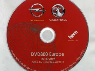 Original GPS DVD Navigatie Opel DVD800 CD500 MY2011 Europa - 2018/2019