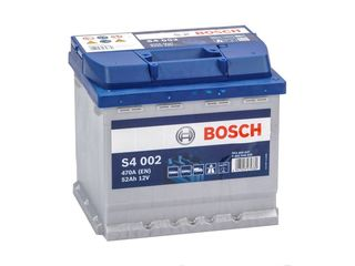 Аккумулятор 12V 52AH 470A Bosch S4 Silver 0092S40020,livrare,garantie,1385 lei