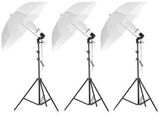 Set de iluminat studio Massa 3x x 125w = 1800w + Trepied + Umbrela, Tip 1