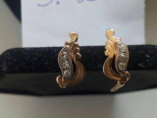 Золотые сережки 585 пробы