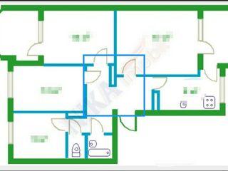 Proprietar!!Sevinde apartament 4 camere total mobilata ,autonoma Автономное отопление!!!  4 комнаты