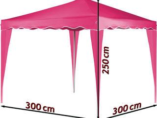 Шатер - Павильон 3х3 м., складной павильон, садовая палатка  розовая*