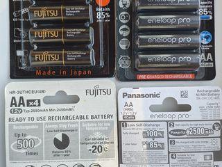 Аккумуляторы Panasonic, Eneloop, Fujitsu, LG-HG2. Зарядки Japcell, Maha.