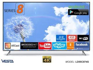 Новый(140см.) smart TV +Wi-Fi +гарантия =8300лей