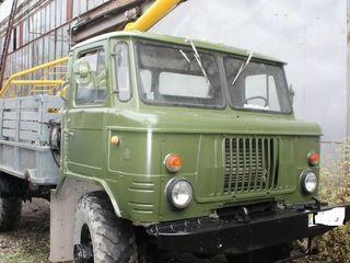 BUR-gaz66 ( masina de foraj) Montarea stilpi