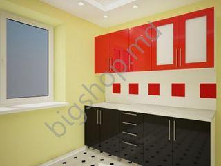 Bucatarie PS Lena 1.8 m Black/Red. Oferim garanție!!