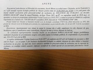 Licitatie de vinzare imobil 57672 lei