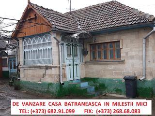 Casa de vanzare Milestii Mici.