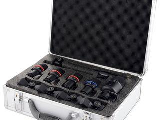 Komplekt mikrofoane pentru tobe.7.buc. cu fir. 6.m. husa