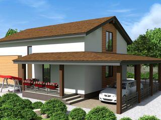 Семейный дом 140 м2. Строим СИП дома в Молдове по доступной цене за 21 день.