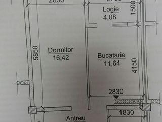 Se Vinde Apartament Strada - Calea Orhiului 28 (1 odaie)fotografie planului