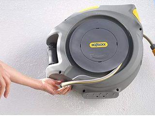Hozelock 2403 0000 Bobină automată cu furtun de 30 m, galben / gri