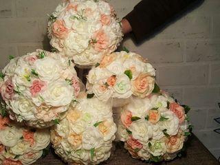 букет невесты из искусственных цветов