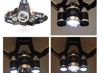 вело На лобный LED Headlight 2000 Lumens Cree XM-L T6 Максимальный световой поток: 8000 люмен 3 режи