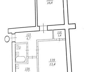 Apartament cu 2 camere în centrul orașului Ungheni