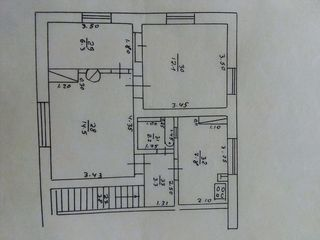 СРОЧНО! 3-х комнатная квартира на ЖД станции Фалешты. Можно в рассрочку.