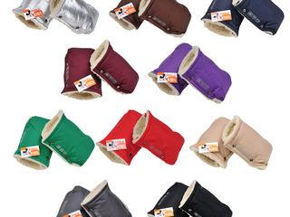 Муфта - рукавички на овчине на ручку коляски, санок, велосипеда