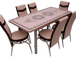 Set MG-Plus Kelebek Cappucino (6 scaune) preț mic livrare gratuită !