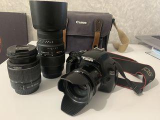Canon EOS 1100D  + Canon EF 50mm f/1.8 + Sigma 70-300mm F/4-5.6 +Сумка оригинал + Трипод