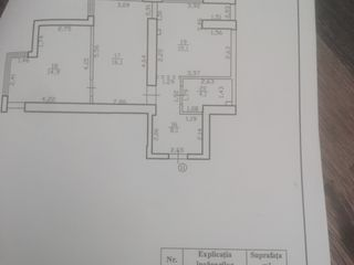 apartament 2 camere,58,2 m Bubuieci cu reparatie