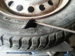 Сложный ремонт шин, Боковых порезов и грыж.Нарезка протектор