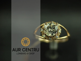 Inel de aur cu diamante / золотое кольцо с бриллиантами
