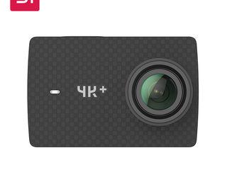 Топовая экшн-камера YI 4K+(Plus) 4K/60fps + YI Action Gimbal 3-Axis 4 + Leather case & Lens