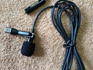 Микрофон для петлички, новый с переходником forzago (microfon pentru lavaliera, nou)