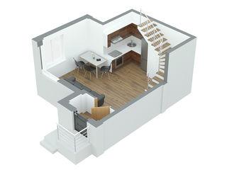Apartament 1 camera  45.6m2 Durlesti la pret promotional 490 euro/m2